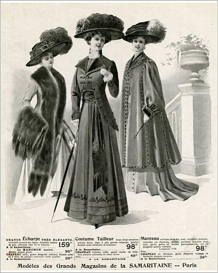 Advert for La Samaritaine women's clothing 1908