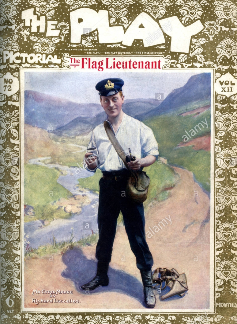 the-flag-lieutenant-with-cyril-maude-as-richard-lacelles-at-the-playhouse-KF0HJA