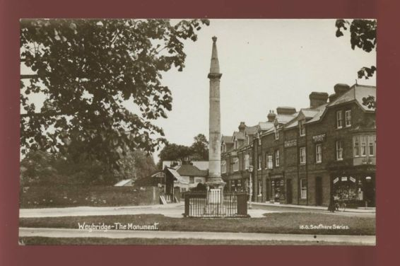 Surrey-WEYBRIDGE-The-Monument-Monument-Stores-1909