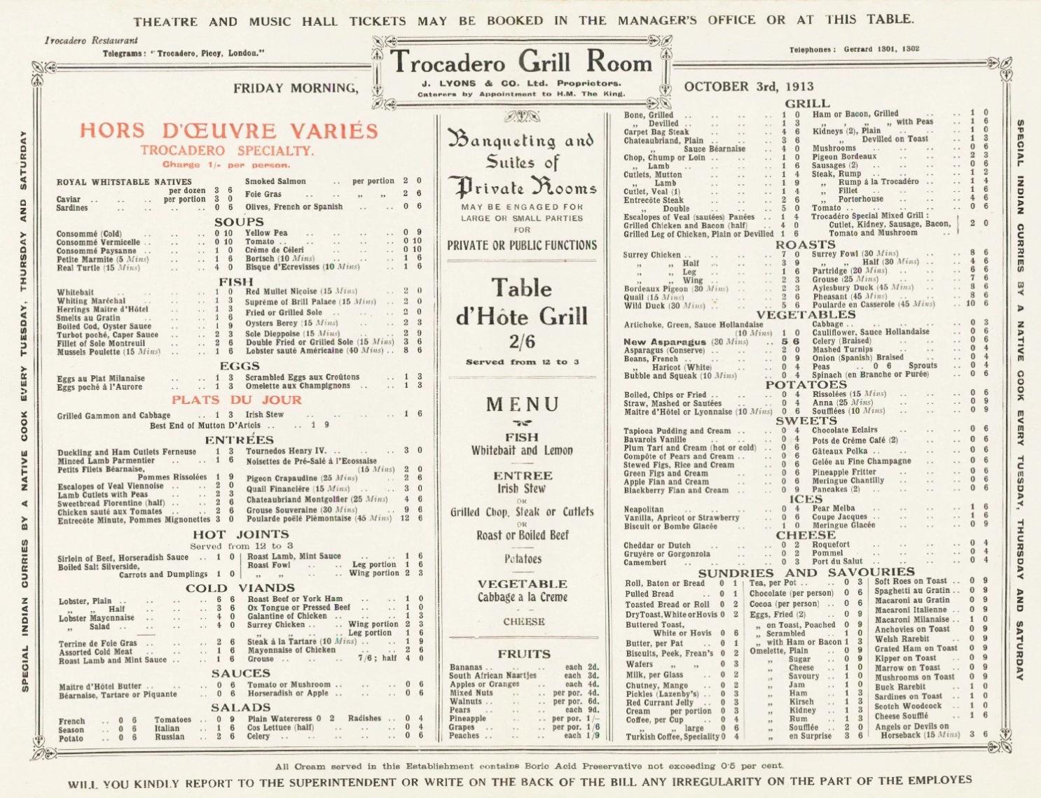 Troc menu