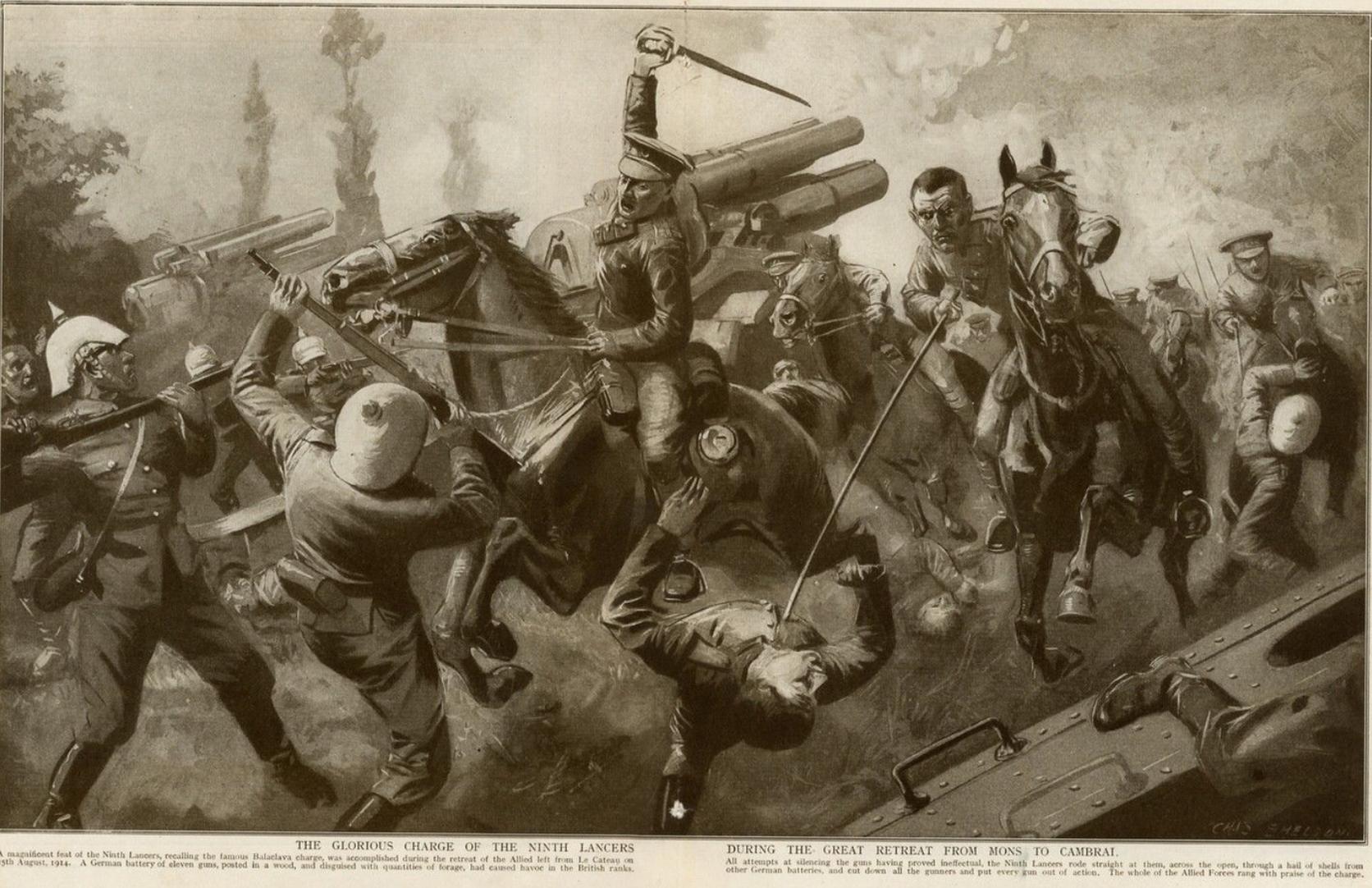BATTLE Charge 9th Lancers LE CATEAU Cambrai
