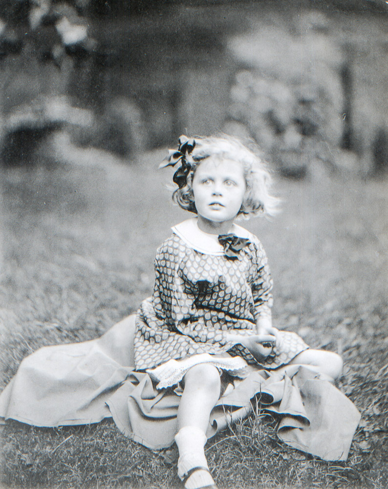 in the Ayrtons garden - Eva taken by ALan Baumer