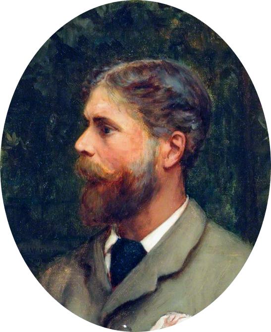 Self portrait  *oil on canvas,  *34.5 x 29.7 cm  *1890