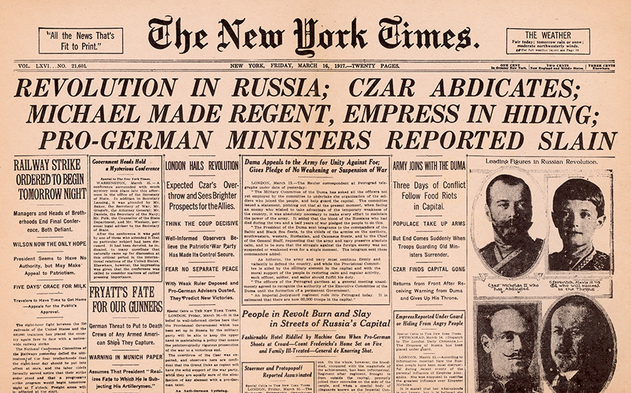 new york times czar