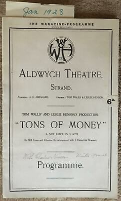 Aldwych-Theatre-Tons-Of-Money-1923-London-Playbill